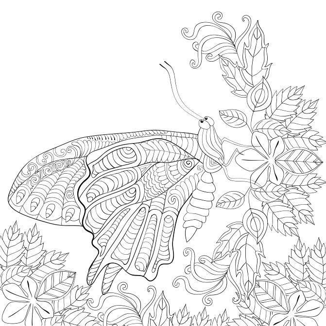 Robot Check Butterfly Coloring Page Coloring Book Art Cute Coloring Pages