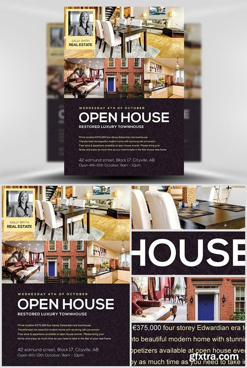 Just Listed Real Estate Marketing Open House Flyer Template – Open House Flyer Template