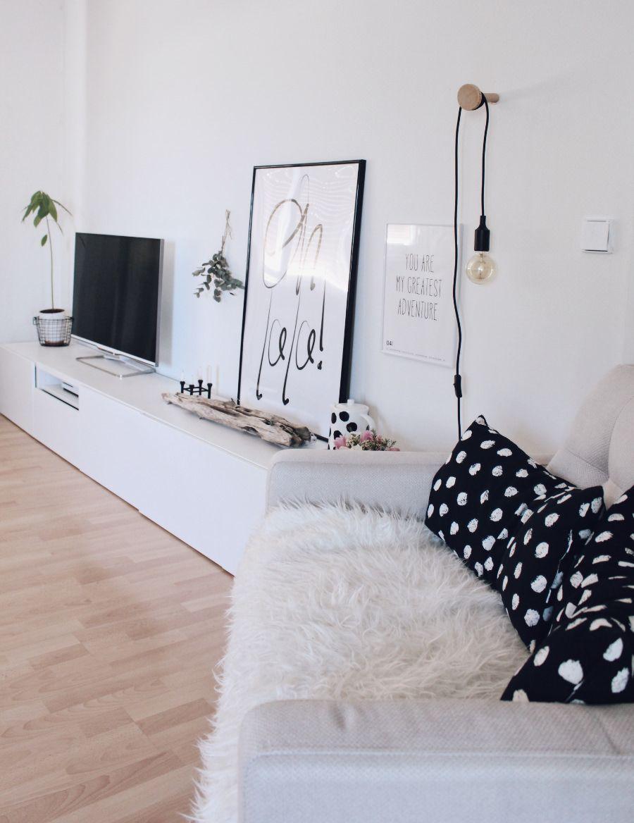 Neue Wandfarbe Von Schoner Wohnen Und Ein Schnelles Diy Schoner Wohnen Wandfarbe Pflanzenwand Und Ikea Wohnzimmer