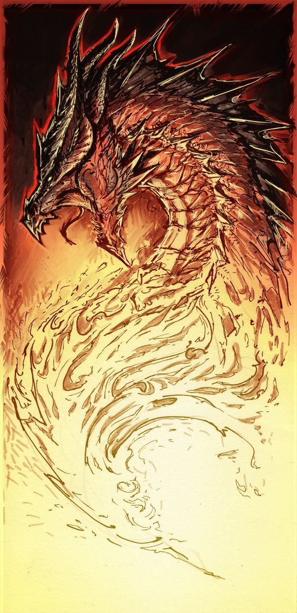 Raging Dragon by YamaO.deviantart.com on @deviantART   tattoo ...