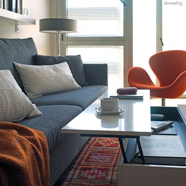Mesa de centro elevable para comer en el sal n muebles - Muebles de salon pequenos ...