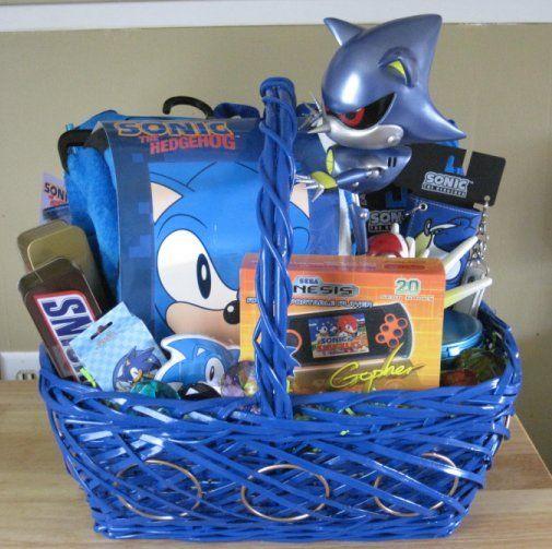 Sonic Easter Or Gift Basket Kids Easter Basket Easter Basket Themes Easter Basket Diy