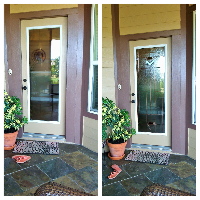 Before And After Images Of A Front Door Remodel For This Door