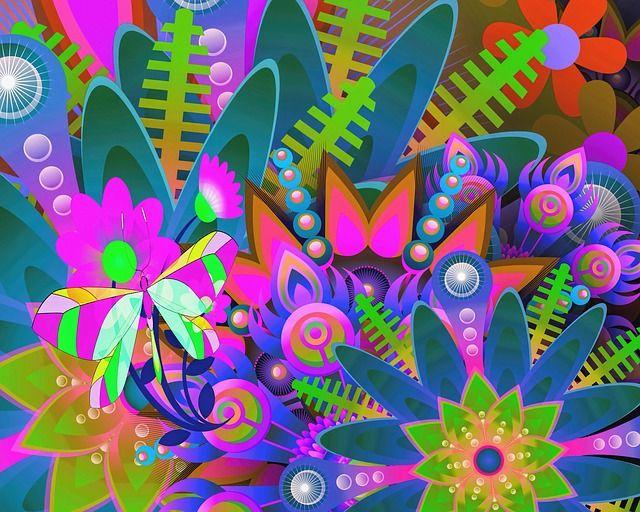 Abstrakt, Digital Konst, Digital Målning, Design
