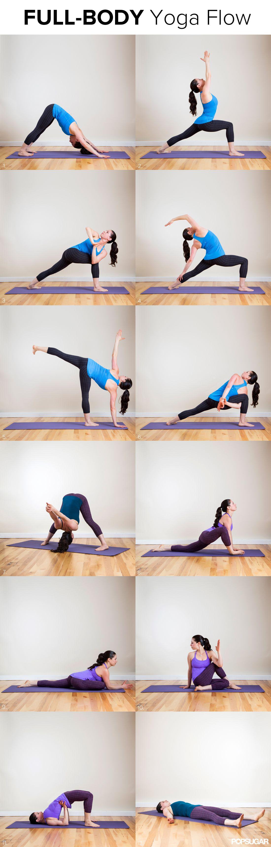 Long And Lean Full Body Yoga Flow Vinyasa PosesBasic