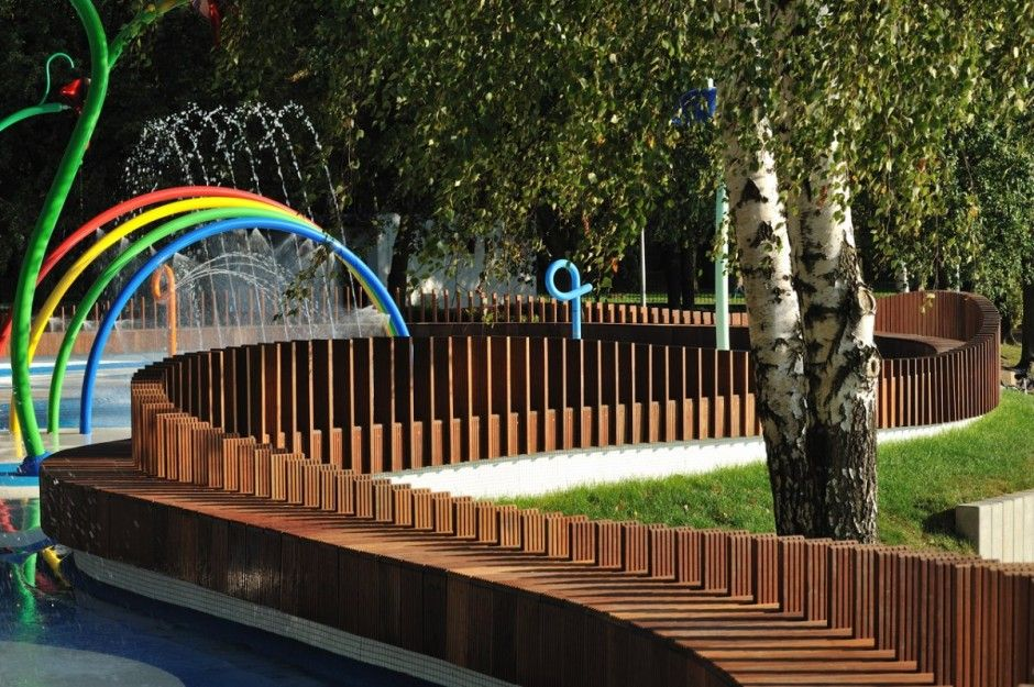 Special Water Playground With Beauty LED Lighting - Special Water Playground With Beauty LED Lighting Fence Design