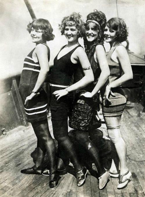 """1922 Beach Cop Measuring Swim Suits Vintage Photograph  8.5/"""" x 11/"""" Reproduction"""