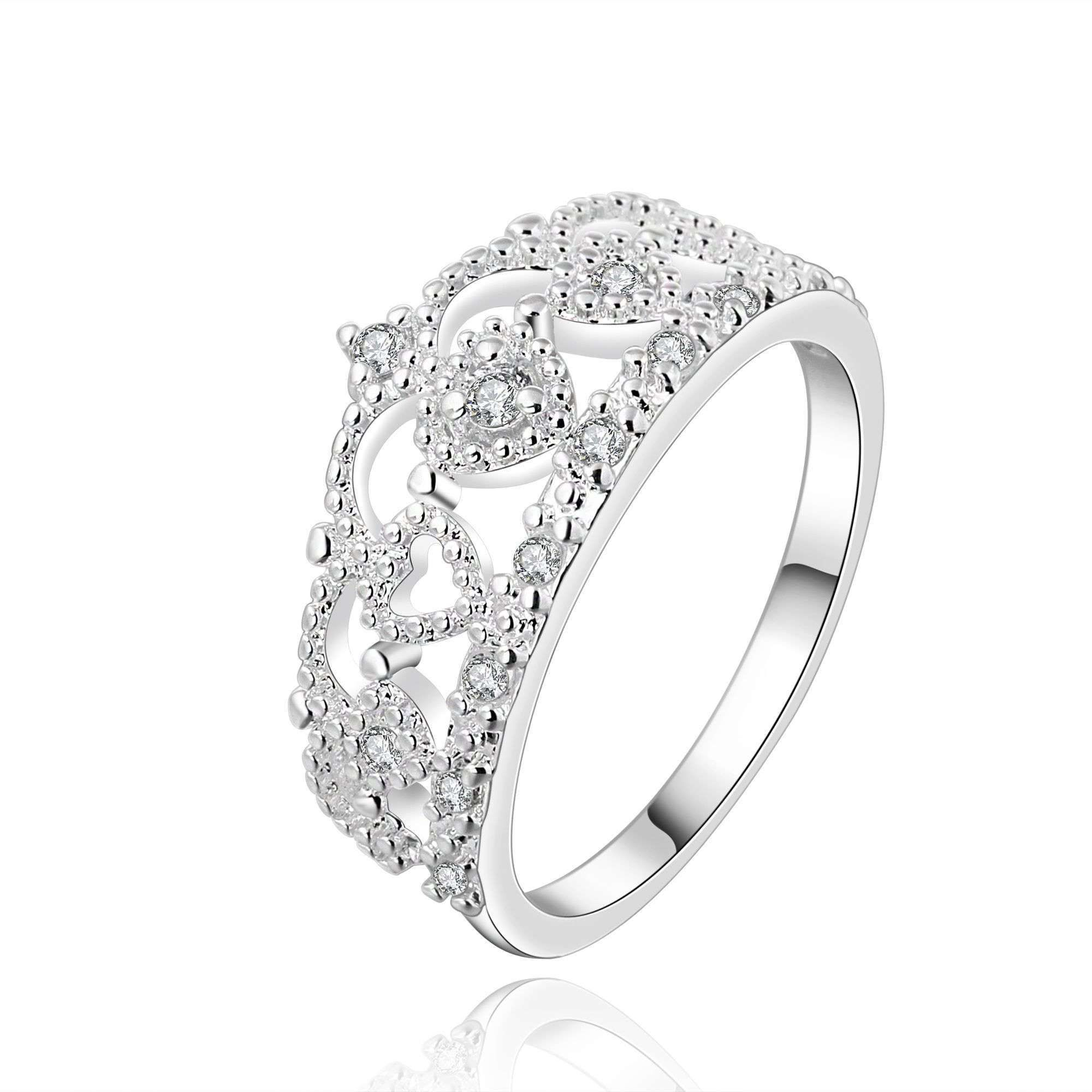 New Silver Plated Crown bride finger Rings for Women