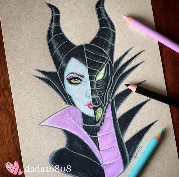 Https Www Instagram Com Dada16808 Dibujos De Malefica Dibujos De Disney A Lapiz Pinturas Disney
