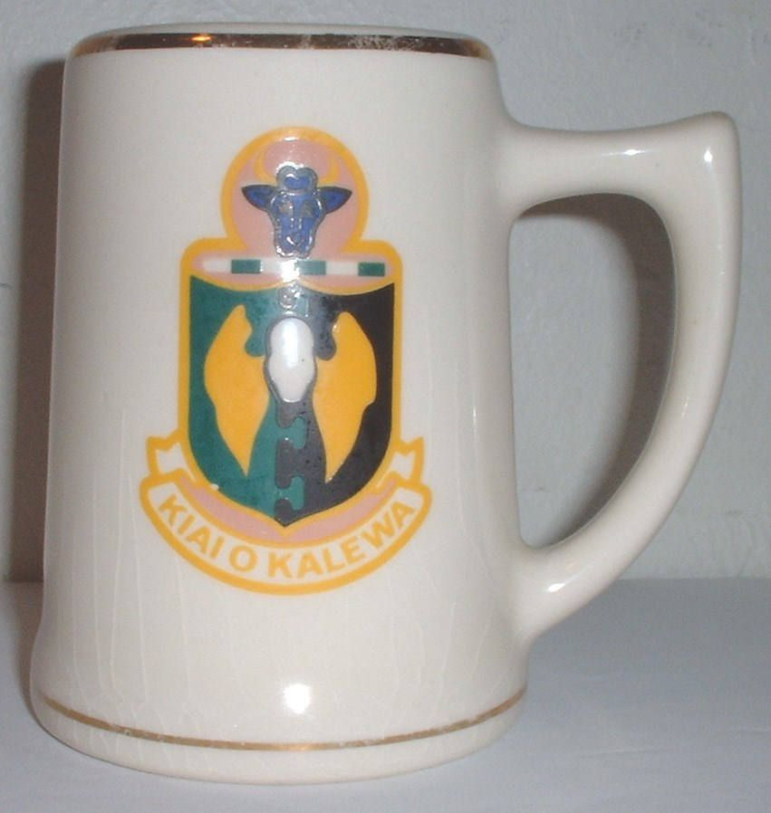 USAF US Air Force 5th Bomb Wing Hawaii ceramic coffee mug