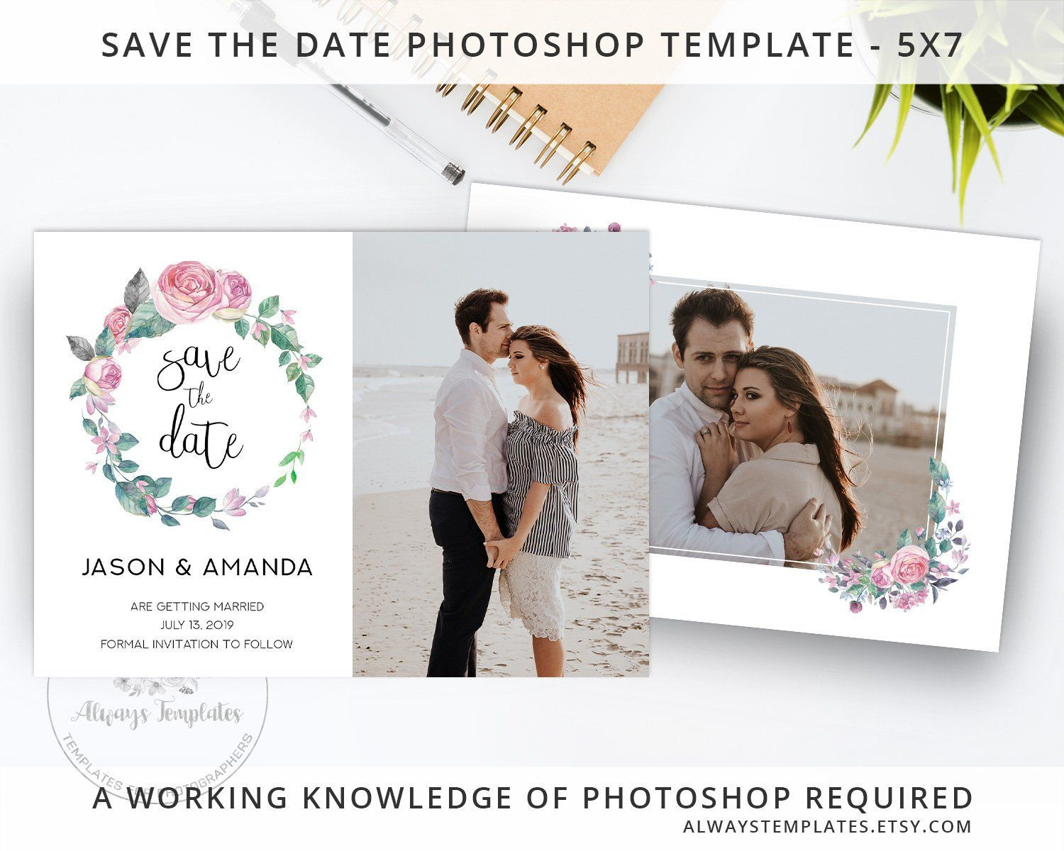 Save The Date Photo Template Picture Save The Date Printable