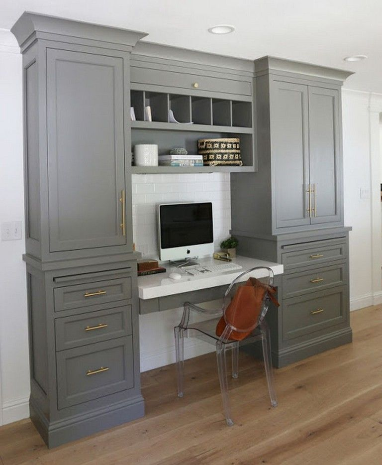 70 Extraordinary Built In Cabinets And Desk Inspirations For Home Office Homeoffice Homeofficeideas Homeofficedesign Home Office Cabinets Home Office Decor Desk Cabinet