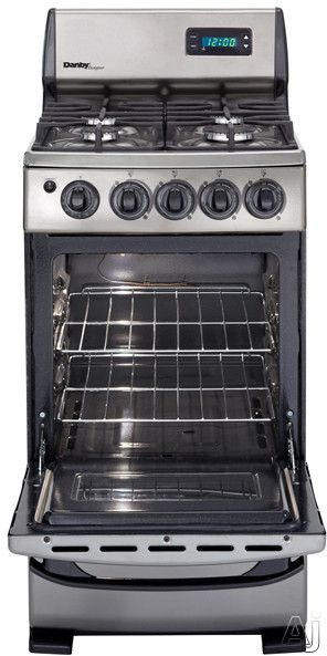 Narrow 20 Stove For Small Tiny House Galley Kitchen Danby Dr299blsglp Freestanding Gas Range With 2 62 Cu Ft Manual Clean Oven 4 Sealed Burners