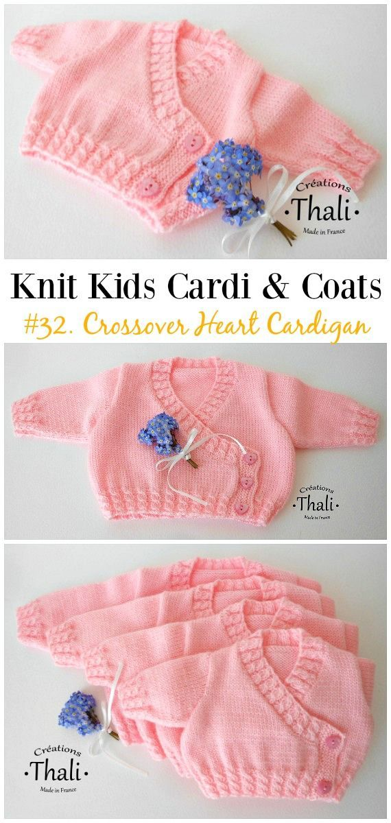 Kids Cardigan Sweater Free Knitting Patterns