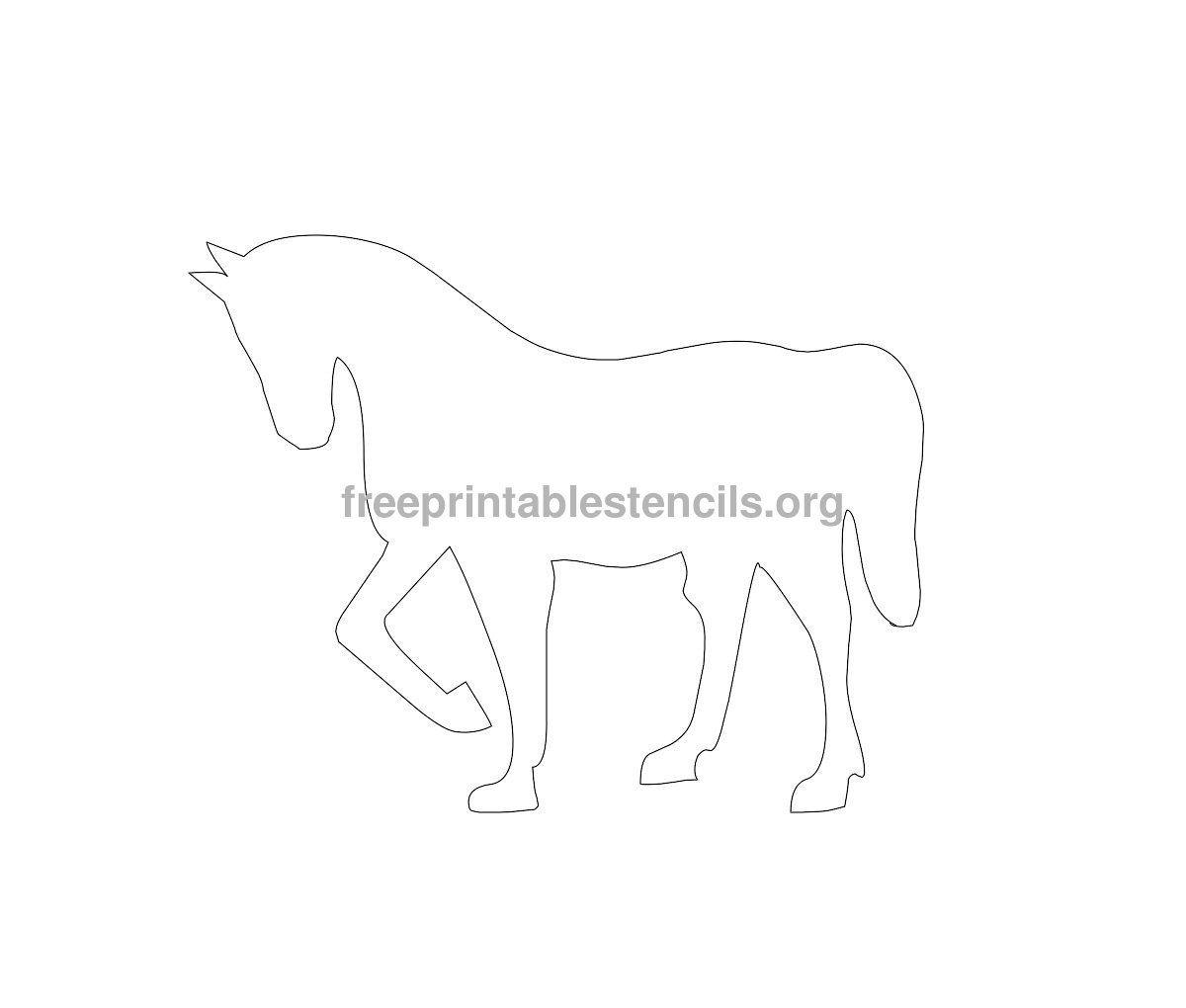 Printable Horse Templates | Horse Printable Stencil ...