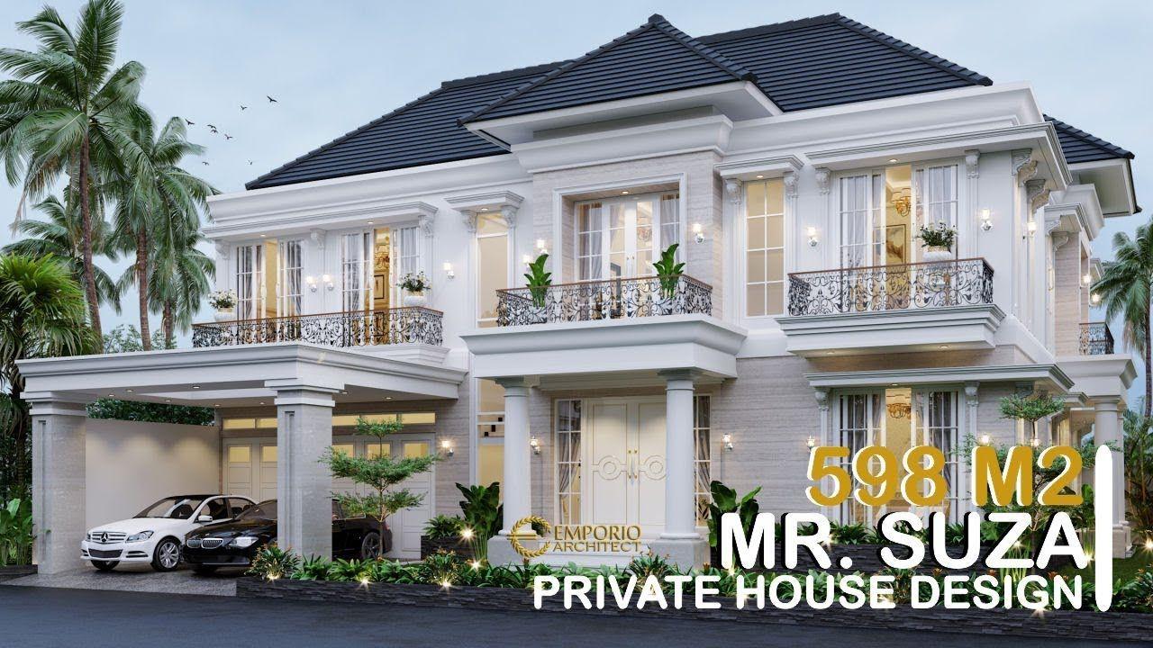 Mr Suza Classic House 2 Floors Design Pekanbaru Riau Philippines House Design Bungalow House Design Classic House Exterior