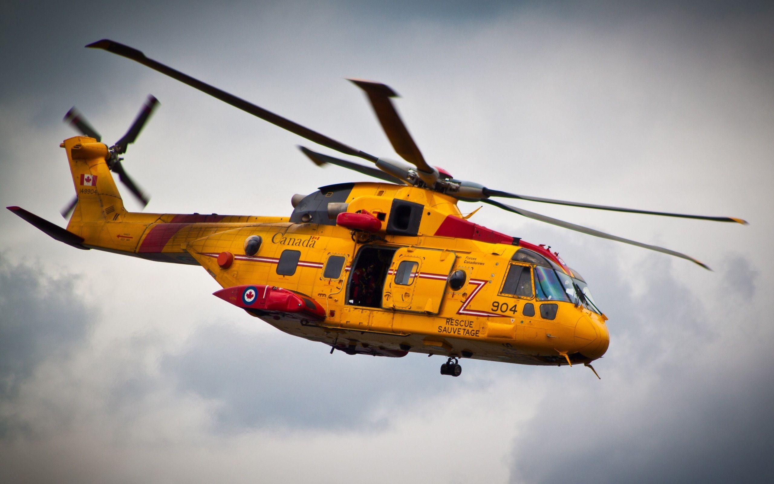 Amarillo helicóptero de rescate vuelo Canadá   Vehículos ...