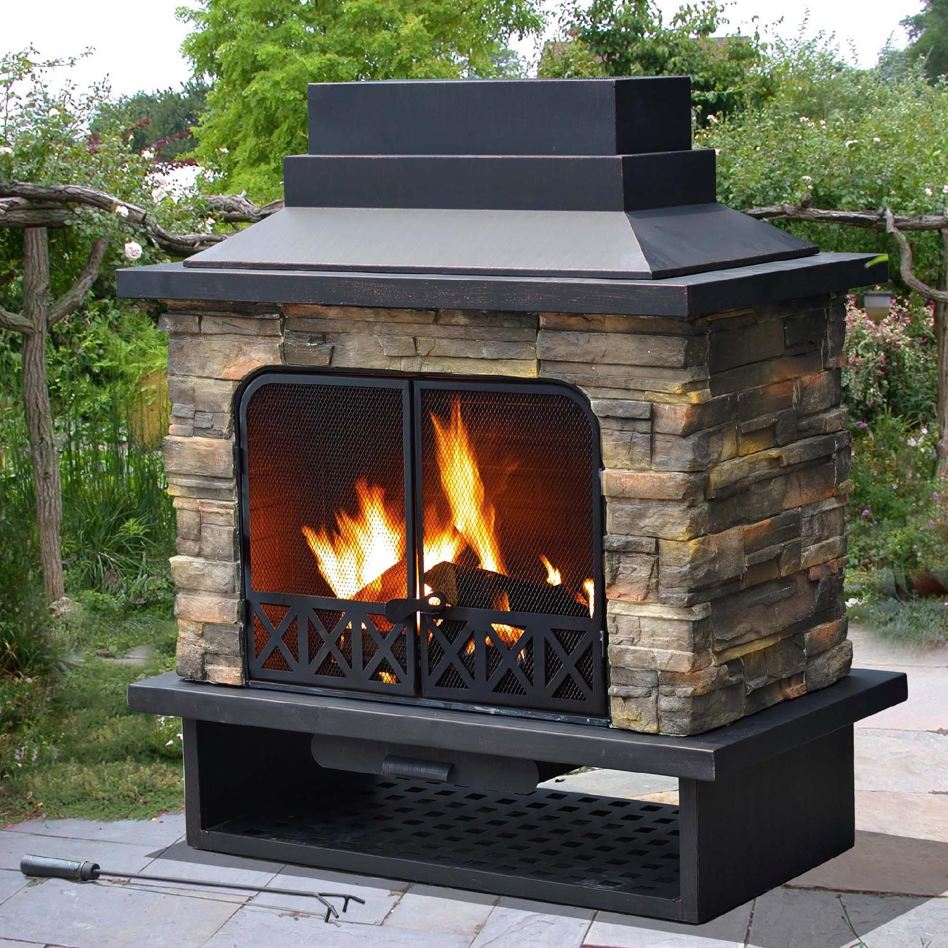 Glowing Outdoor Fireplace Ideas: Bring The Glow And Warmth Of A Natural Log Fire To Your