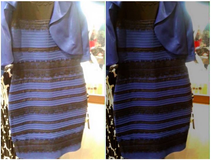 8ba2ceee2a0635ec0aec4faebb064d23 why your brain thinks that blue dress looks white meme