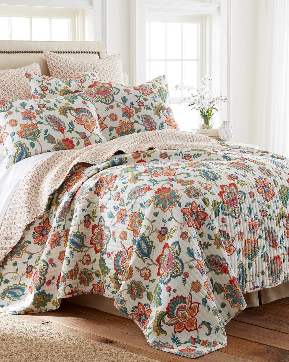 Risa Floral Luxury Quilt Collection Print Quilts Bedding Bed Bath Stein Mart Quilt Sets Bedding Quilt Sets Luxury Quilts