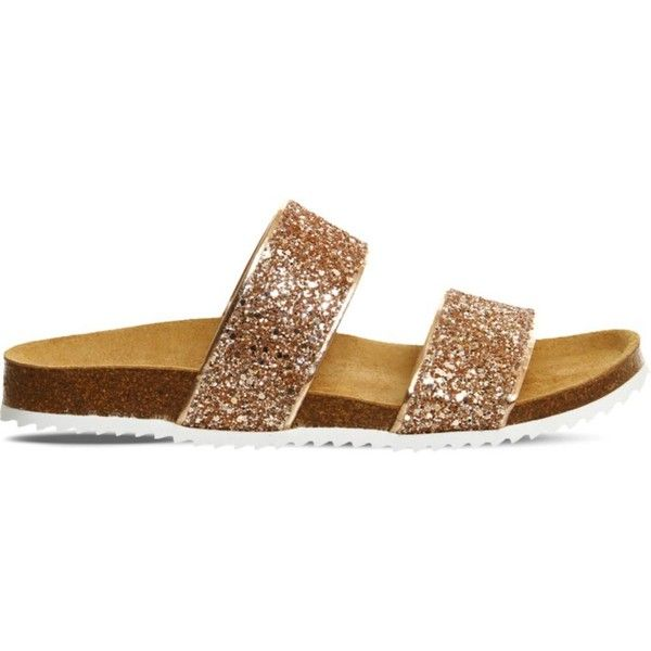 Office Oslo 2 Glitter Slider Sandals 25 Liked On Polyvore Featuring Shoes