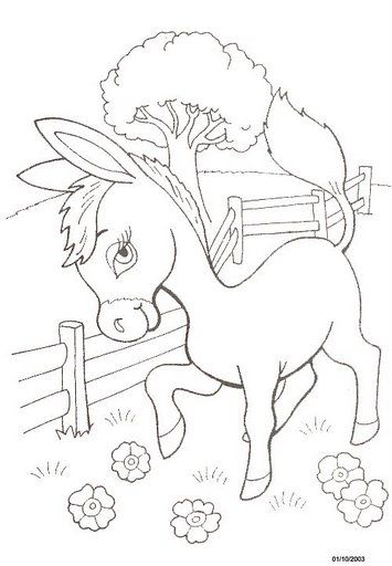 Donkey Coloring Page Since The Little Man Is All About Donkeys Right Now Coloring Pages Bible Coloring Pages Family Coloring Pages
