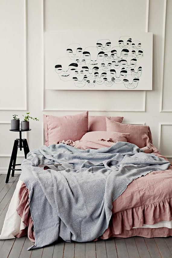 Light Gray Waffle Blanket Idee Deco Chambre Ado Fille Et Decoration