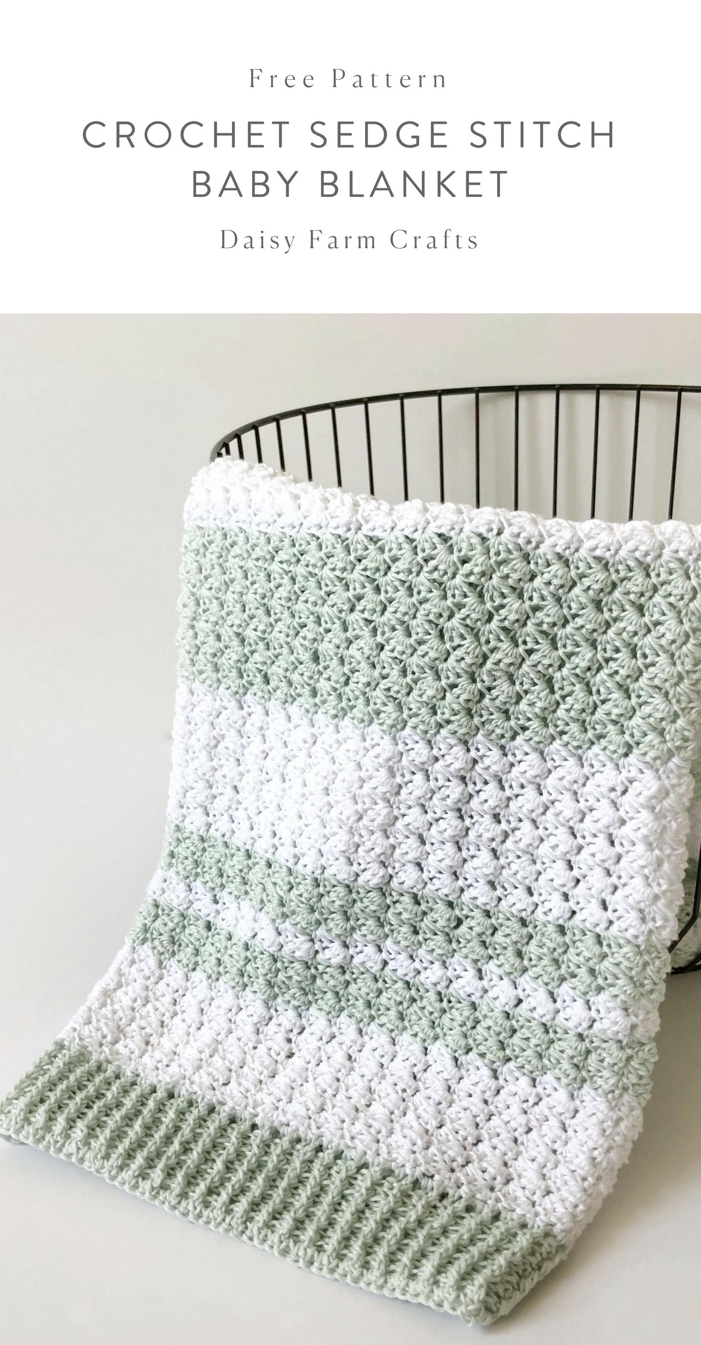 Free Pattern - Crochet Sedge Stitch Baby Blanket #crochet | Crochet ...