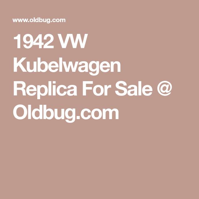 1942 Vw Kubelwagen Replica For Sale   Oldbug Com