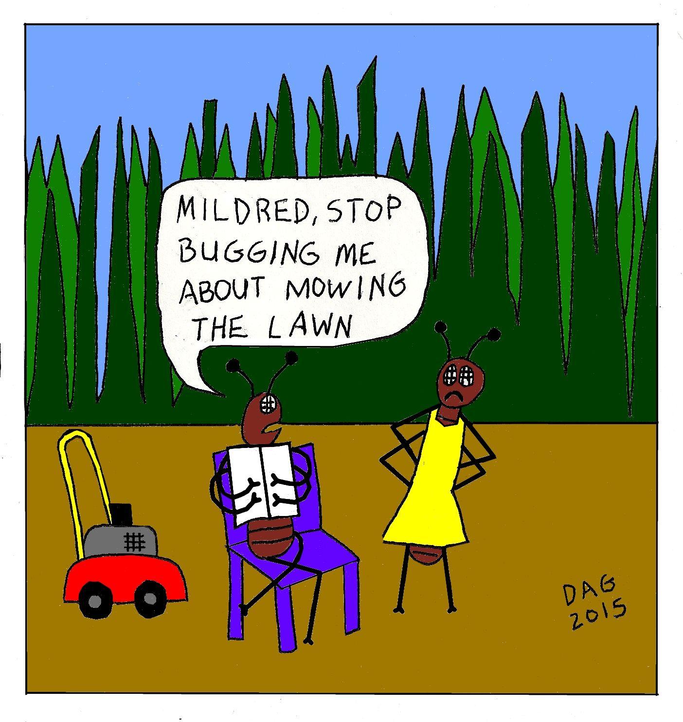 Yard Work Blues By Carl D Agostino Working Blue Funny Cartoons Yard Work