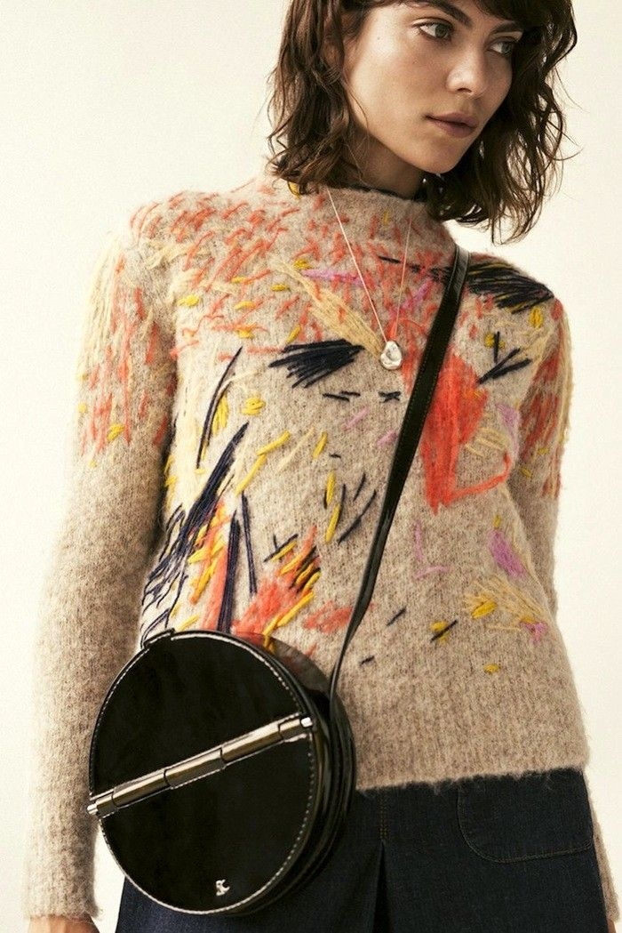 This Embroidered Sweater Is A Work Of Art Knit Fashion