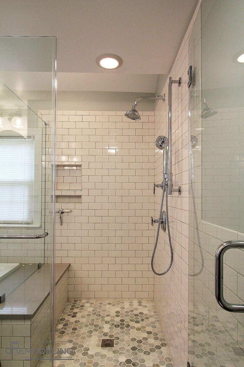 Elegant And Modern Bathroom Shower Tile Master Bath Ideas 29 Tile Walk In Shower White Subway Tile Shower Bathroom Remodel Shower
