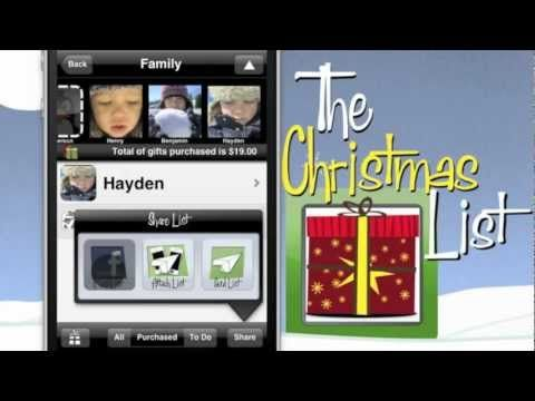 The Christmas List Gift Tracking And Shopping App Christmas List App Christmas Shopping List Easy Christmas Gifts