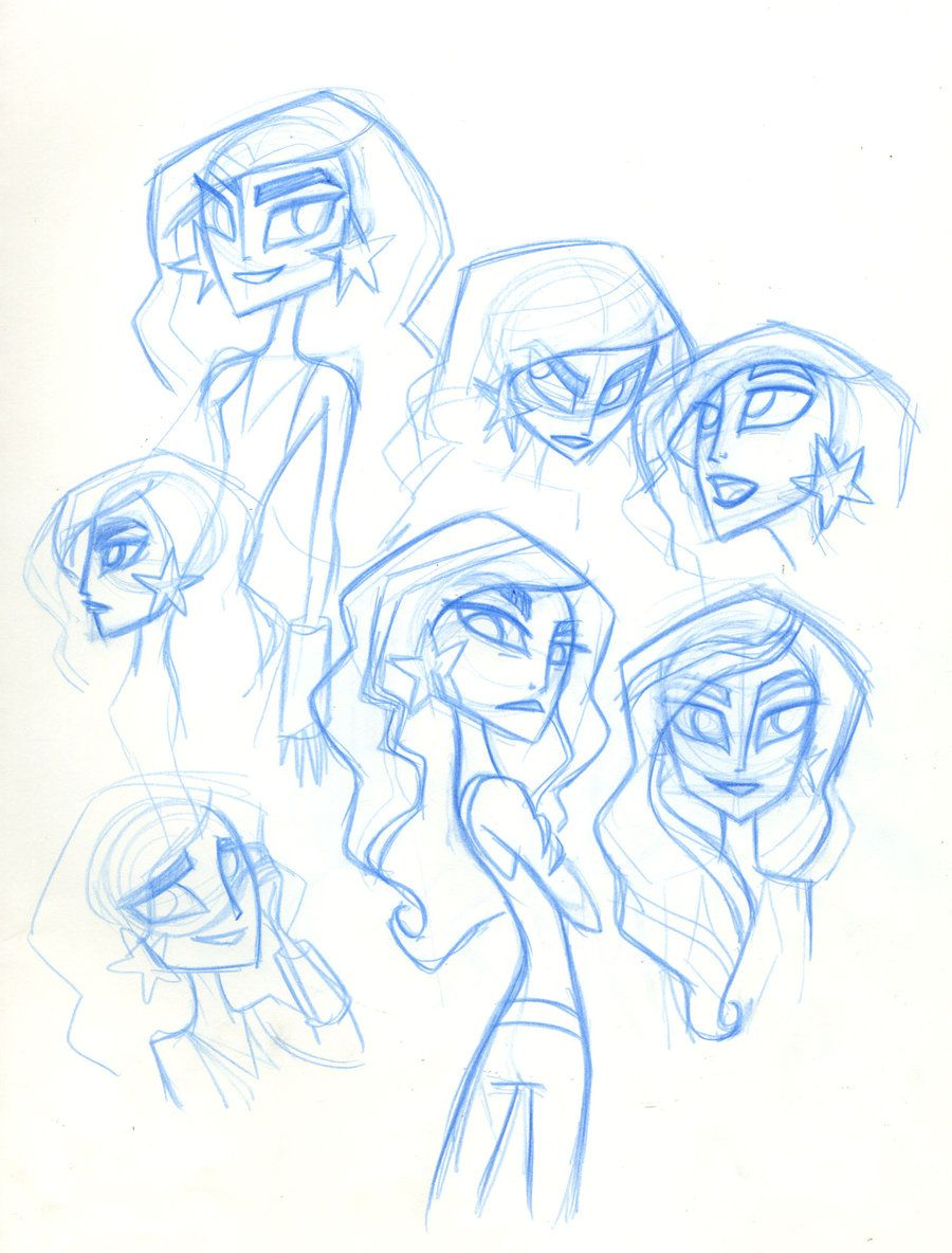 SBFF Wonder Girl face studies by *fyre-flye on deviantART. Lauren Faust.