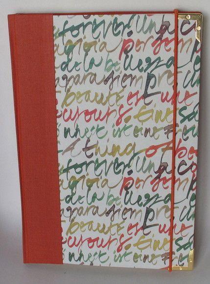 Caderno De Anotacoes Papel Pautado Marfim 15 X 22cm Miolo Com