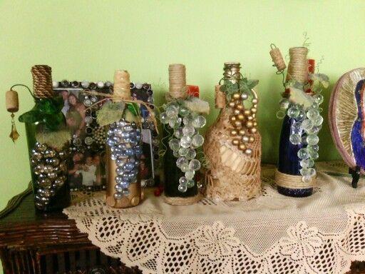Botellas de vino decoradas para navidad buscar con - Botellas de vino decoradas ...