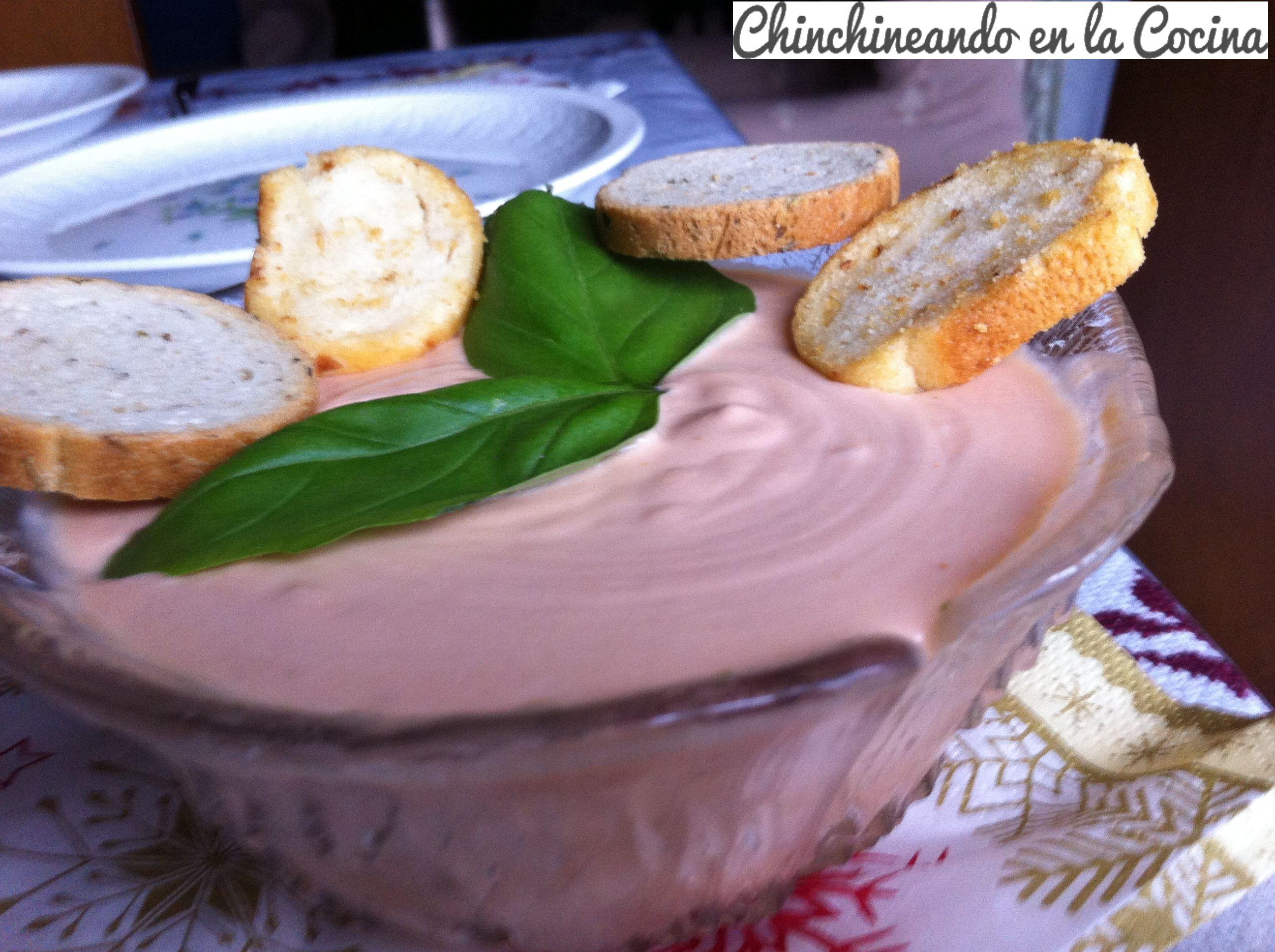 Delicioso paté casero de tomate y albahaca ummmmmmm!!!!!!!!!!!!