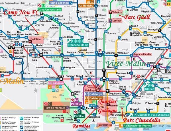 Extrêmement plan-metro-barcelone-personnalise | Barcelone | Pinterest  HY36