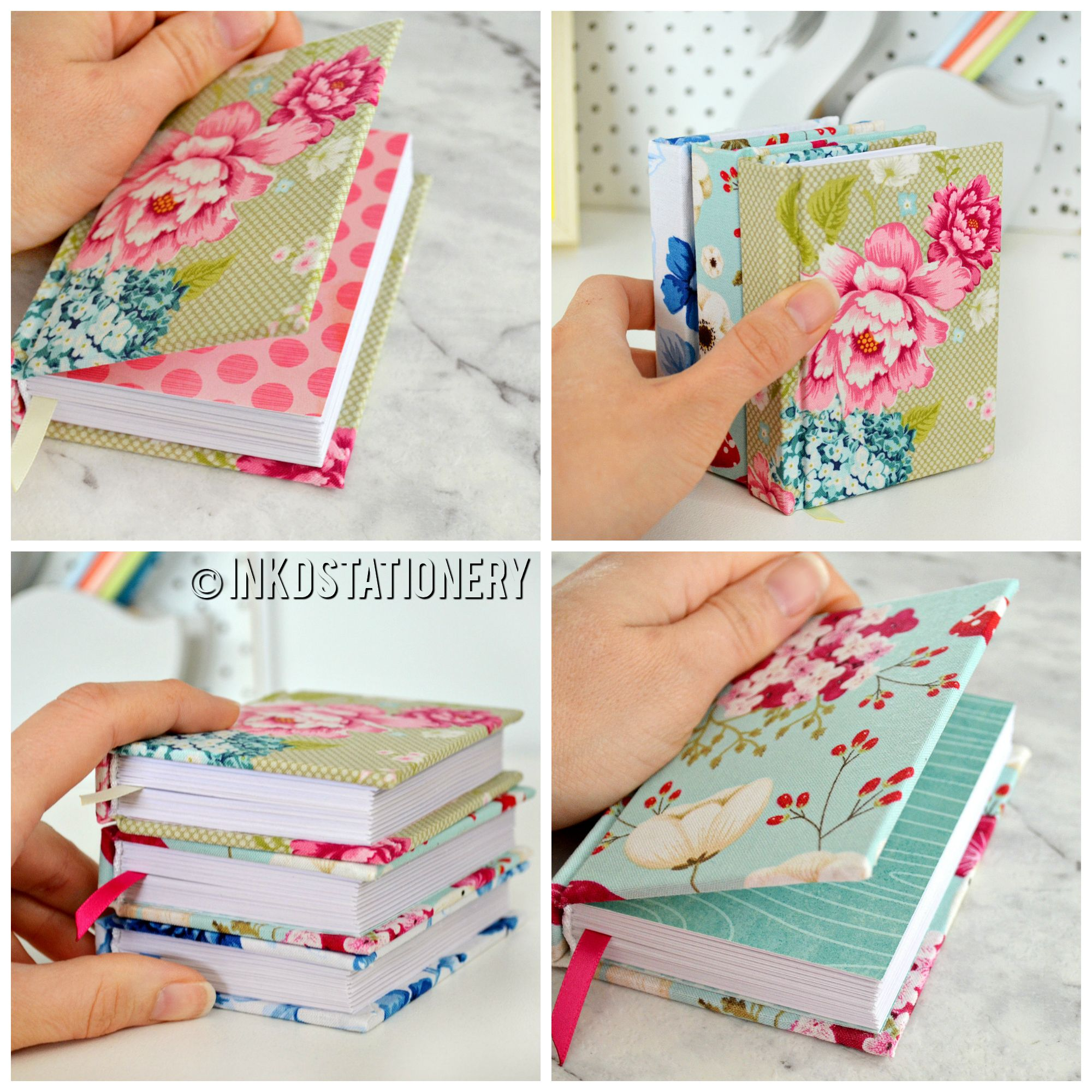 Hand-bound Mini Journals. Made By INKDStationery Using