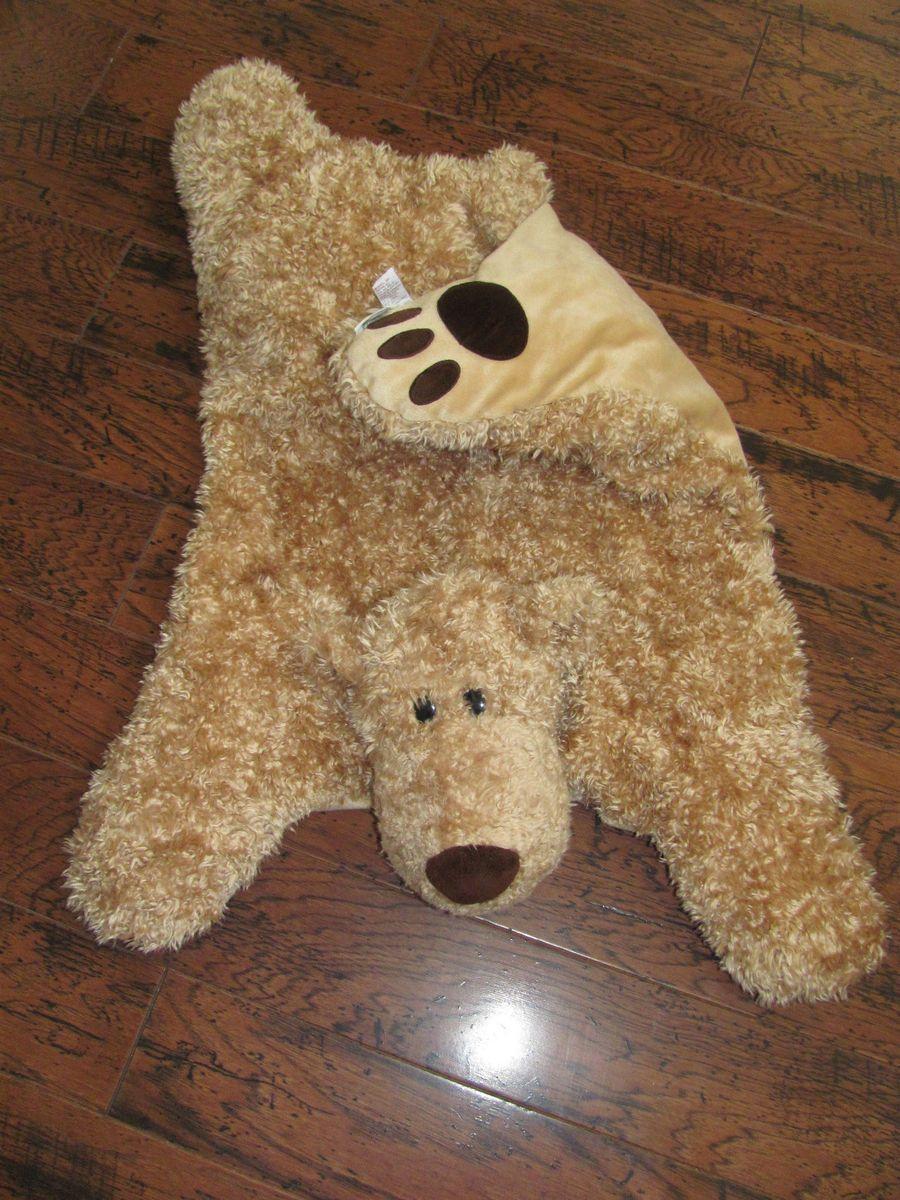 Bear Rug | Pottery Barn Kids Plush Lot XLarge 43250 Gund Clancy Bear Rug  Lion Pig