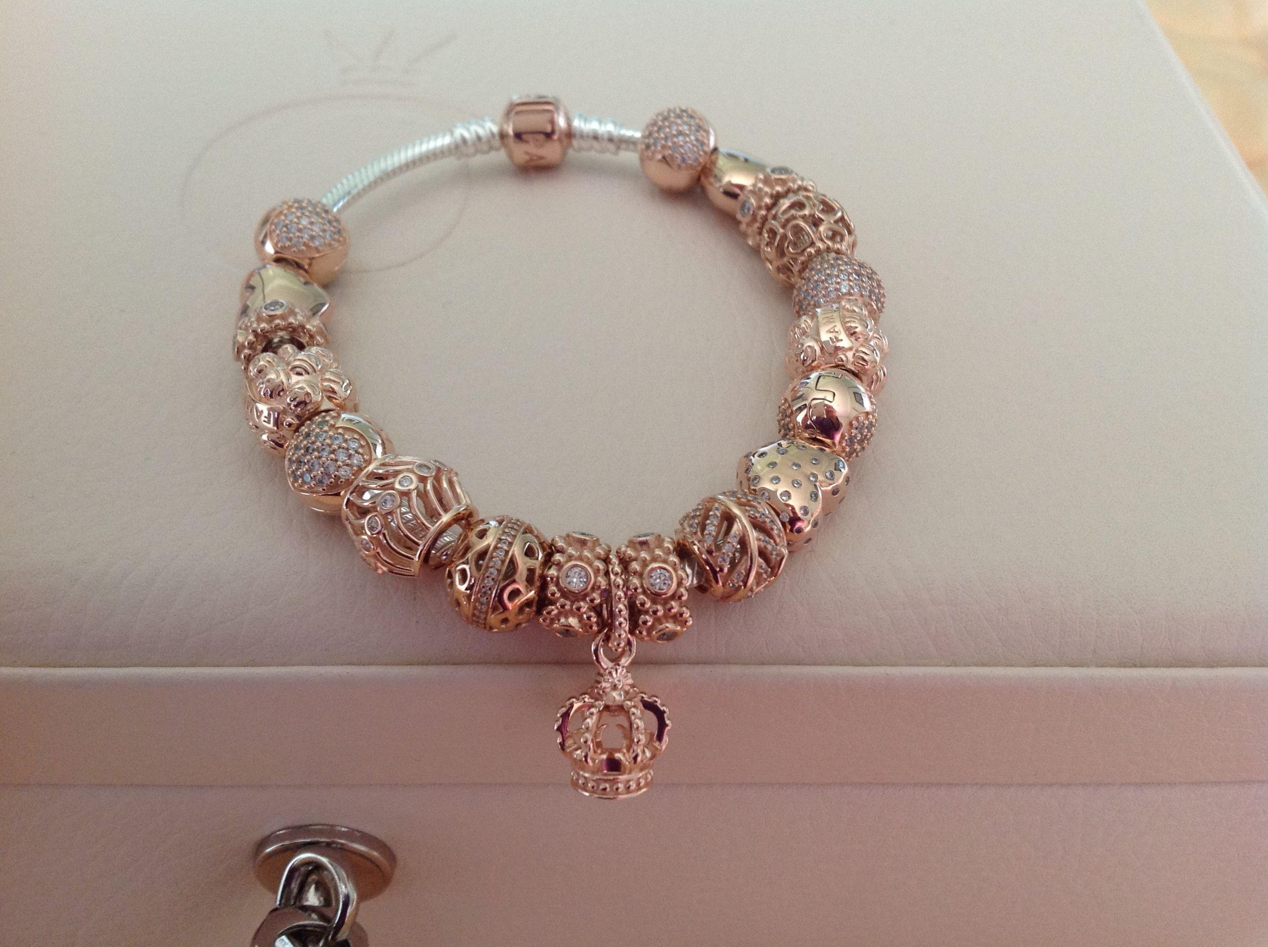 bracelet pandora femme or rose