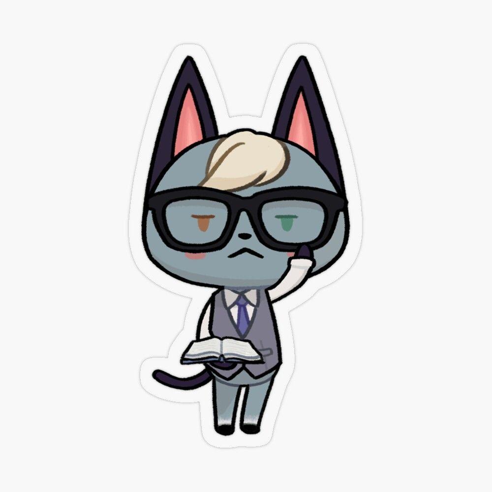 Raymond Smart Cat Animal Crossing Transparent Sticker By Ballooonfish In 2020 Animal Crossing Fan Art Animal Crossing Animal Crossing Cats