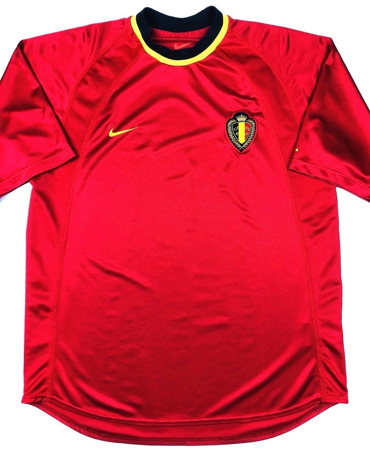 a296298b8 Nike BELGIUM Euro 2000 M Home Soccer Jersey Football Shirt KBVB URBSFA  Belgique (eBay Link)