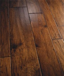 "Show details for Palmetto Road Reserve Hardwood Collection Hickory- Monticello 4"", 6"", 8"" Dark brown hardwood, handscraped, wide plank"