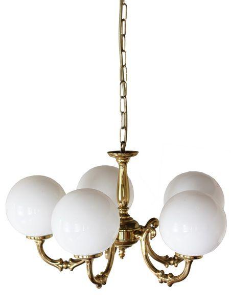 Ben 5 Arm Globe Chandelier ChandelierChandeliersDining Room