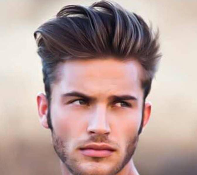 loose pompadour with clippers