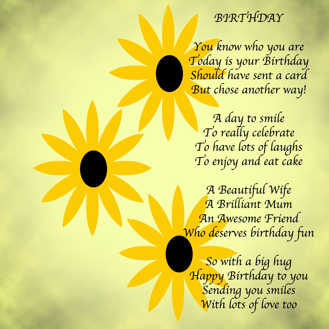 Wishing Words/Birthdays