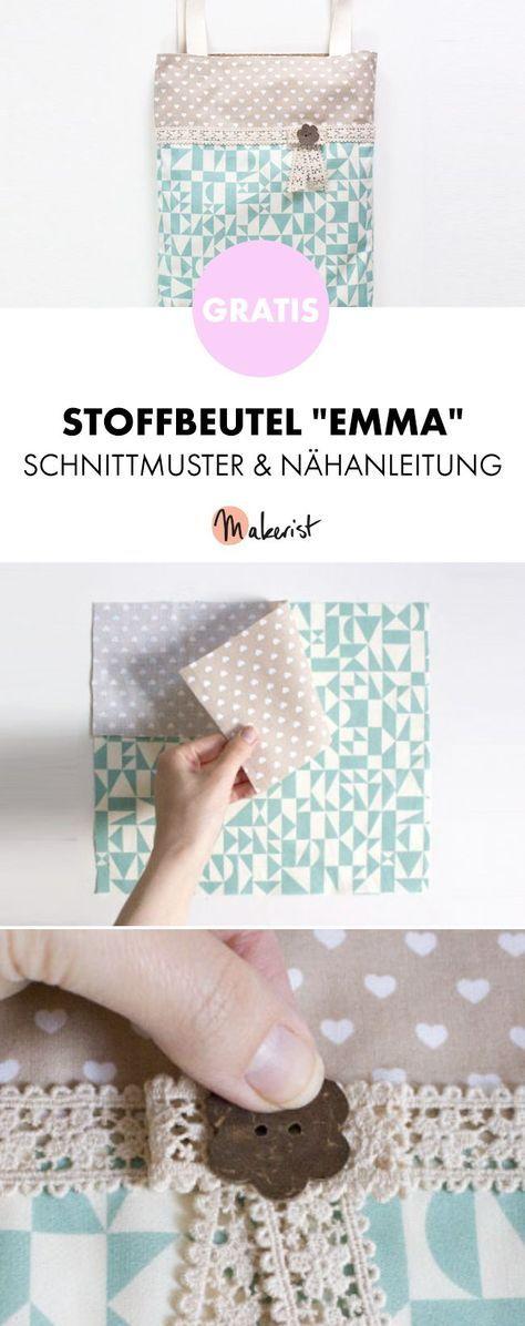 Enchanting Beutel Muster Nähen Photos - Decke Stricken Muster ...