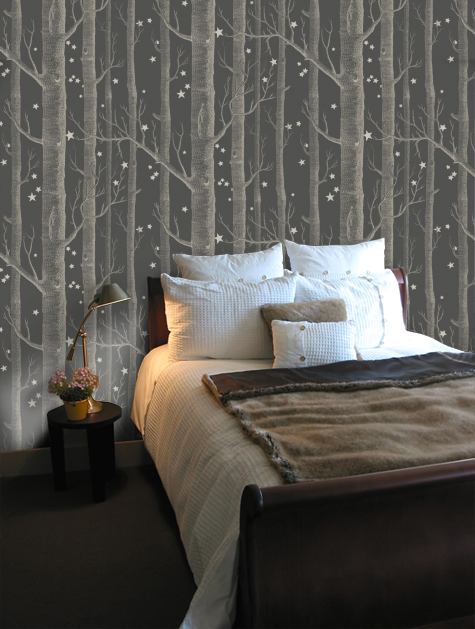 Woods And Stars In 2019 Blue Wallpaper Bedroom Wood