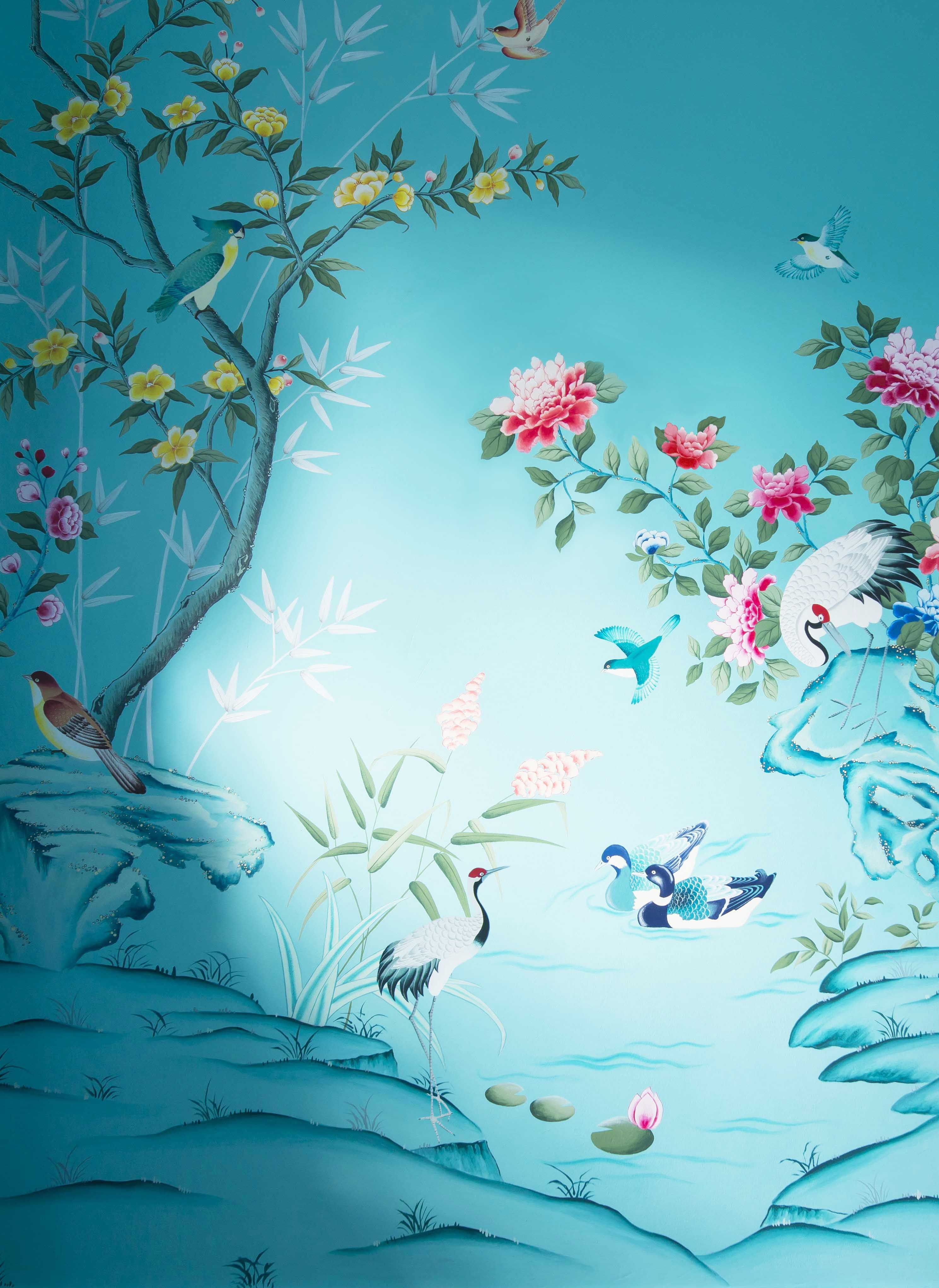 Pin by qian lin on Handpainted wallpaper Chinoiserie